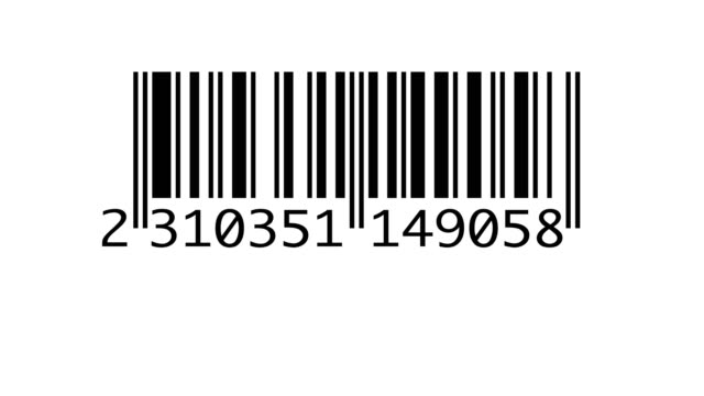 scanning barcode isolated - icona supermercato video stock e b–roll