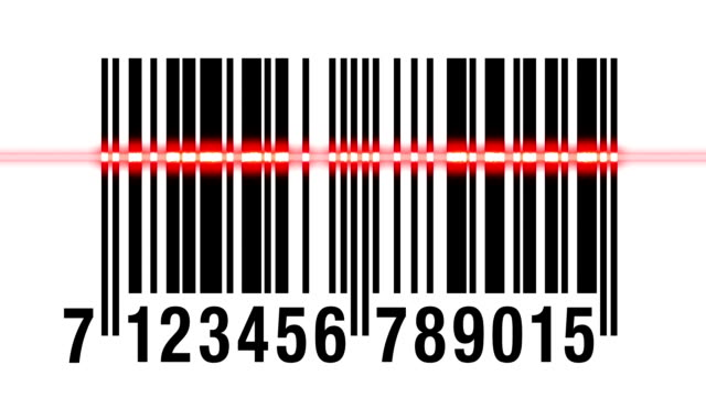 Scanning barcode isolated video