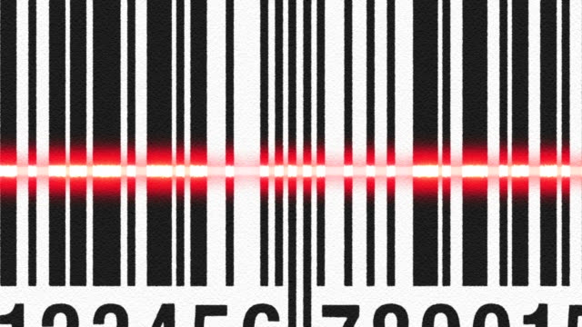 Scanning barcode on cardboard video