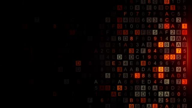 コンピューター画面の単発アニメーション デジタル コードをスキャン - ウイルス対策ソフト点の映像素材/bロール