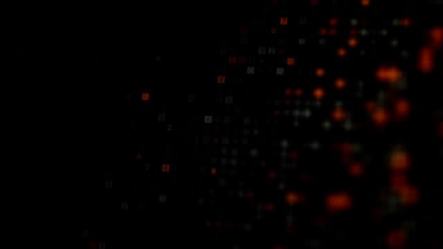 コンピューター モニター単発暗号化されたデジタル コードをスキャン - ウイルス対策ソフト点の映像素材/bロール