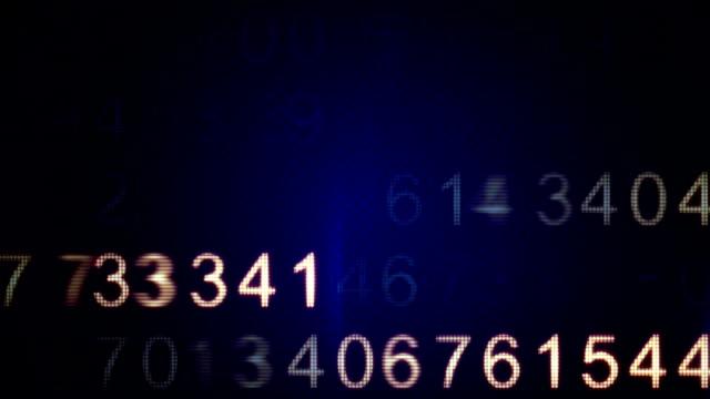 scanning numbers loop background video
