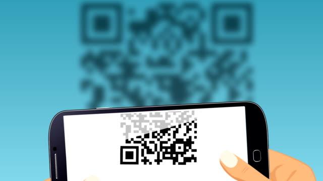 Scanning QR code. video