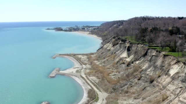 4K Scarborough Bluffs in early spring video