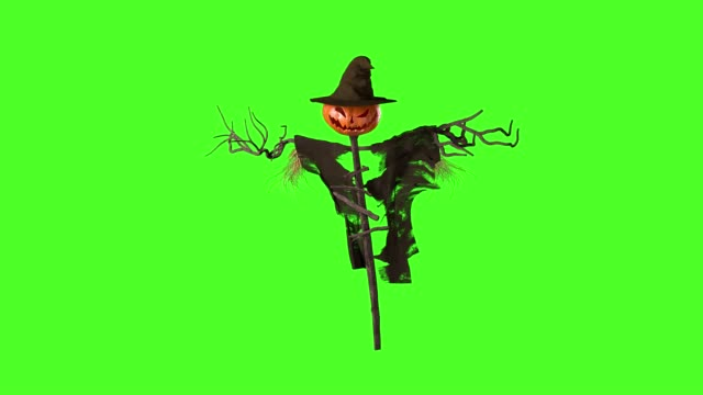 Scarecrow animation on a green screen