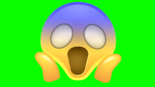 scared emoji - emoji video stock e b–roll