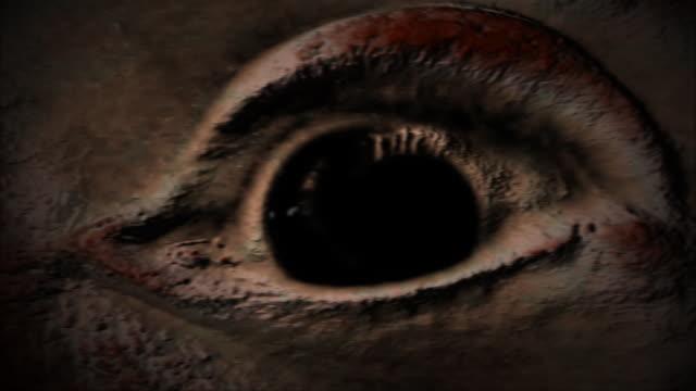 scared eye looking everywhere creepy background - rymdvarelse bildbanksvideor och videomaterial från bakom kulisserna