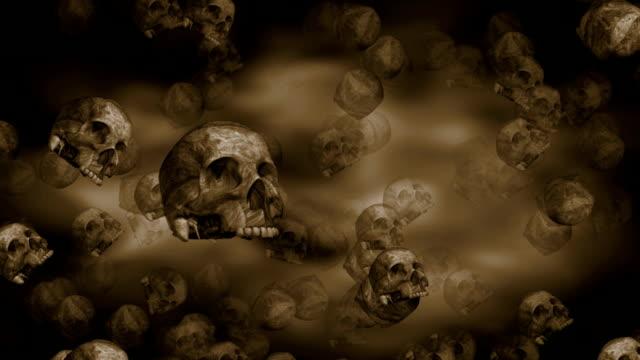 Scary Ancient Skulls Loop video