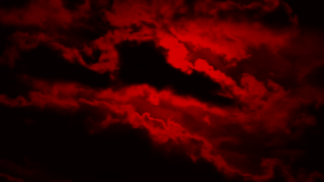Scary Clouds On Red Sky video