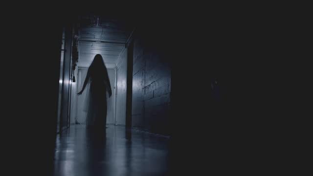Scary Ghost Flickering Lights in Creepy Hallway