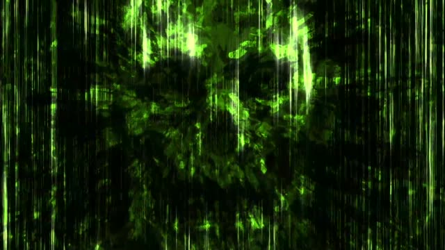 scary green neon skull abstraction background - emblema video stock e b–roll