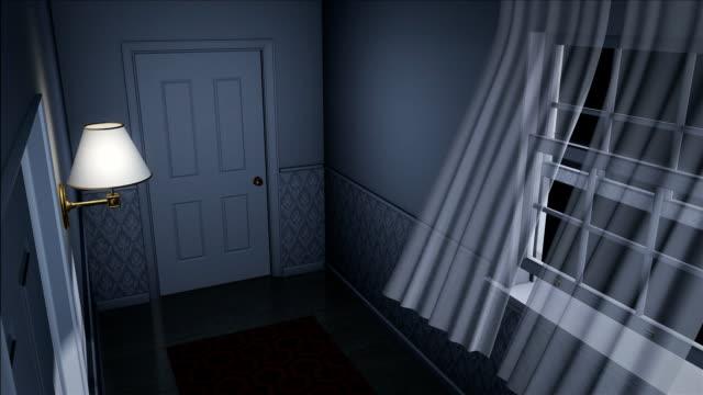 스캐리 하우스 섹션 고해상도 - home 스톡 비디오 및 b-롤 화면