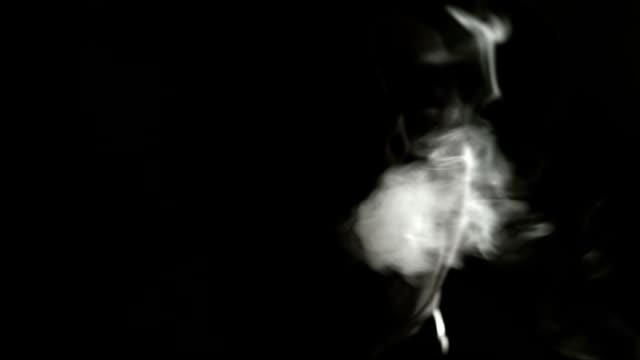 Scary man smoking a cigar video