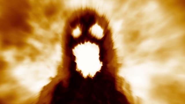 scary monster shadow. - potwór filmów i materiałów b-roll
