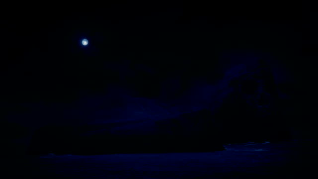 Scary Skull Island With Moon Above video
