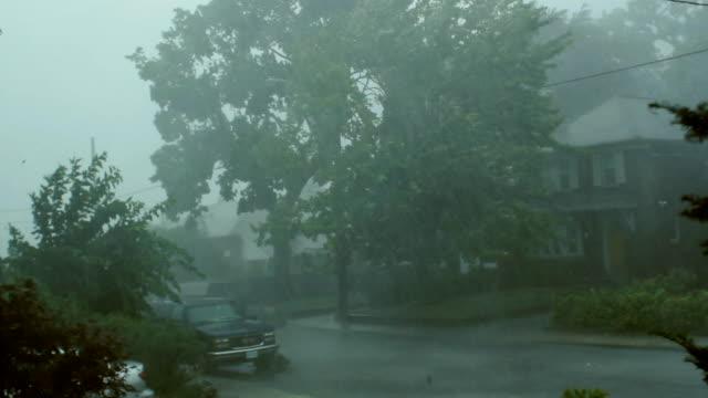 Scary suburban storm.