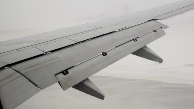 Scary winter landing. video