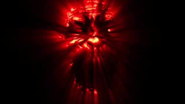 怖いゾンビ顔。赤い色。 ビデオ