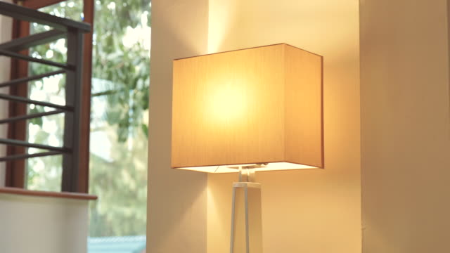 Scene dolly shot of lamp modern style at home, Concept of day in the life objects Video scene dolly shot of lamp modern style at home, Concept of day in the life objects (4K) lamp shade stock videos & royalty-free footage