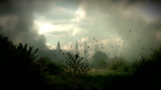 vídeos de stock e filmes b-roll de cena de destruição e uma condenação à morte - surrealismo