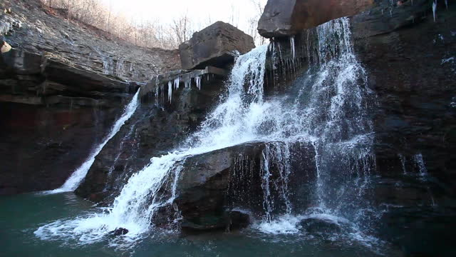 Scene of Lower Chedoke Falls in Ontario, Canada video