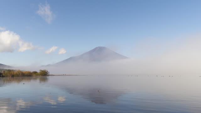 Scene of mount Fuji from lake Yamanakako video