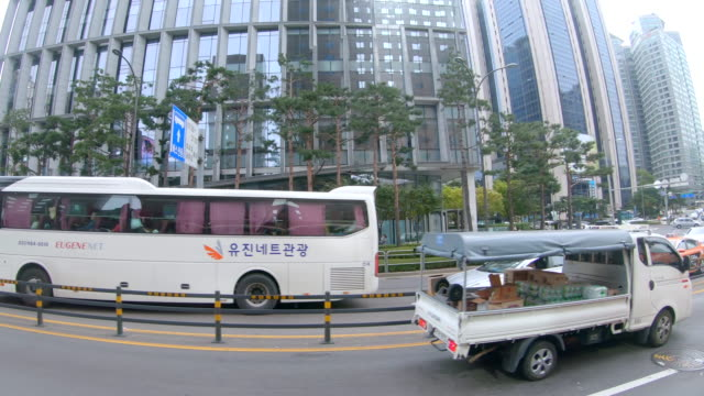 Scene of view seoul city from the bus, Concept of travel, Transportation in Seoul Scene of view seoul city from the bus, Concept of travel, Transportation in Seoul (4K) gwanghwamun gate stock videos & royalty-free footage