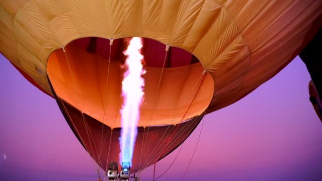 Scene slow motion of hot air balloon, Fire bursts in the balloon Video Scene slow motion of hot air balloon, Fire bursts in the balloon (4K) hot air balloon stock videos & royalty-free footage