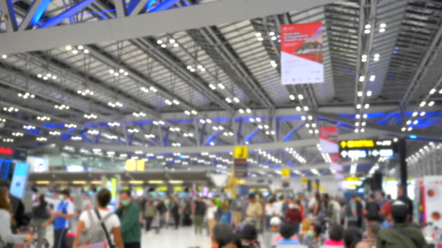 Scene slow motion of passengers walking in Suvarnabhumi Airport, Bangkok Video Scene slow motion of passengers walking in Suvarnabhumi Airport, Bangkok (4K) international architecture stock videos & royalty-free footage