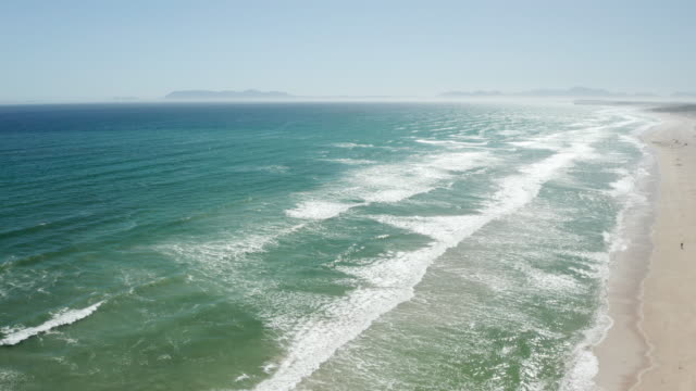 Scenic Aerial Shot of the Coastline of South Africa