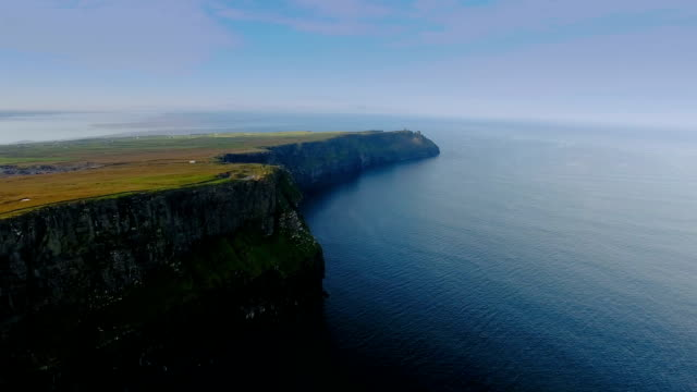 A scenic aerial view of the Cliffs of Moher in Ireland video