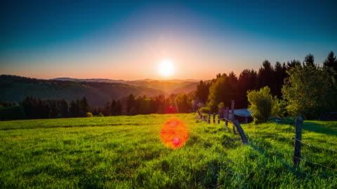 crane: paesaggio panoramico in renania palatinato - germania - idillio video stock e b–roll