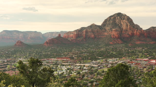 Scenic landscape view over Sedona Arizona USA