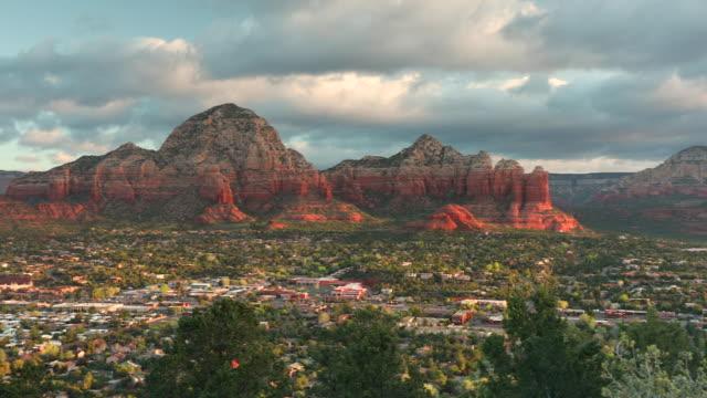 Scenic landscape view over Sedona Arizona USA