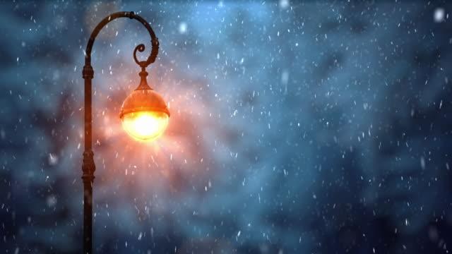 Scenic Street lamp with Night Sky video