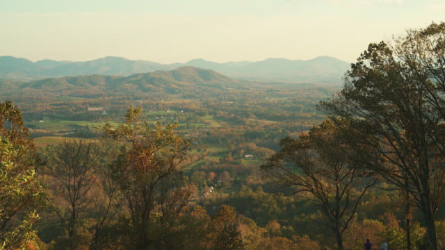 Scenic view from the Blue Ridge Mountain scenic overlook on highway 64 near by Charlottesville, Virginia, USA video
