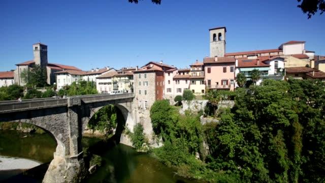Scenic view of ancient arched bridge Ponte del Diavolo
