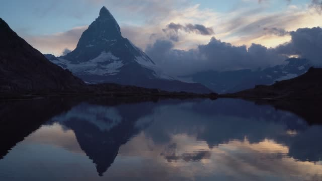 Scenic view of lake in Matterhorn