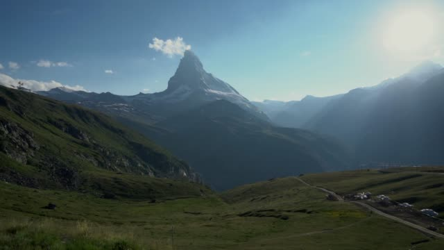 Scenic view of  Matterhorn mountain from train