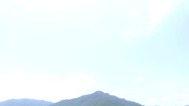 scenic view of meadow and mountain - tilt down stock videos & royalty-free footage