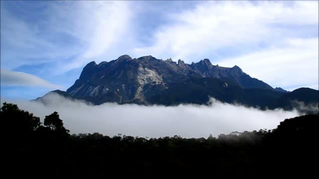 Scenic view of Mount Kinabalu video