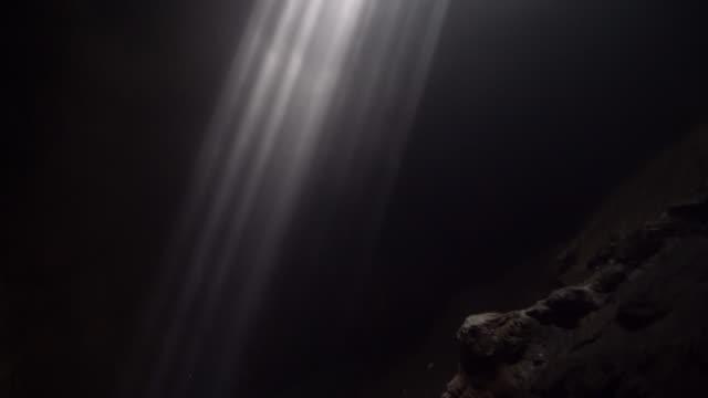 Scenic view of sunbeams in Jomblan Cave