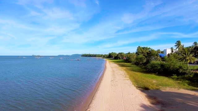 natursköna vy av tropisk strand med solljus på morgonen, antenn video - indiska oceanen bildbanksvideor och videomaterial från bakom kulisserna