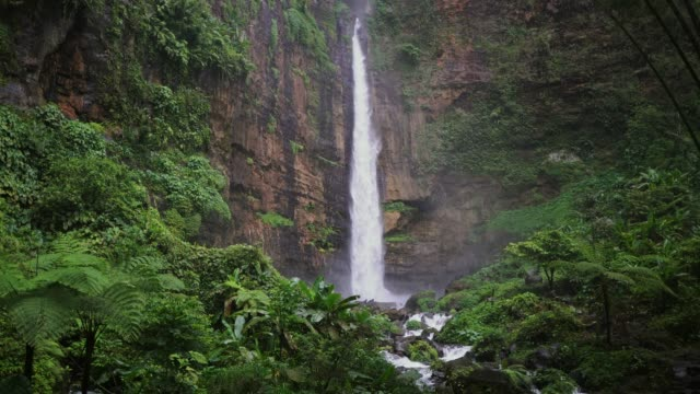 Scenic view of waterfall on Java