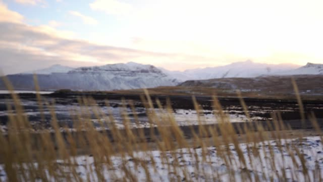 Scenic view of Westfjords in Iceland in winter