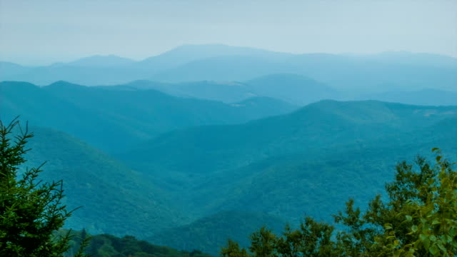 Scenic View over the Blue Ridge Mountains near Asheville, NC video