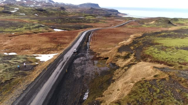 WS Scenic view remote landscape and road,Iceland