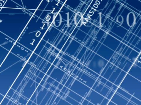 Schematic blueprint plans video