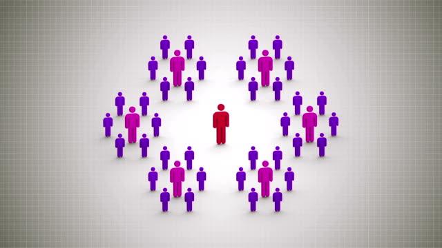 Scheme: network marketing concept video