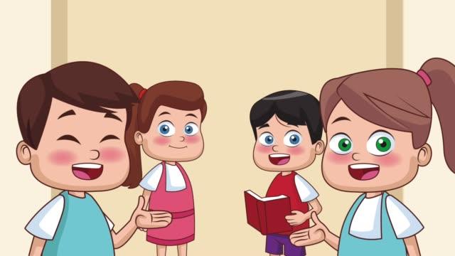 Bидео School and kids HD animation